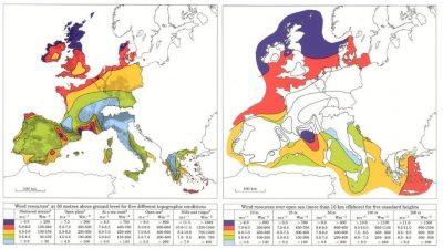 atlas européen gisement éolien terrestre