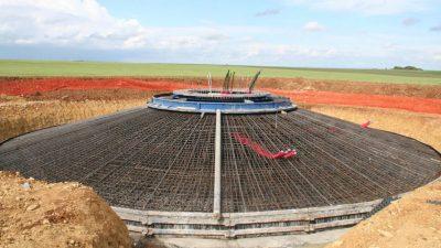 fondation gravitaire éolienne