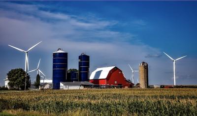 petit parc éolien installations agricoles